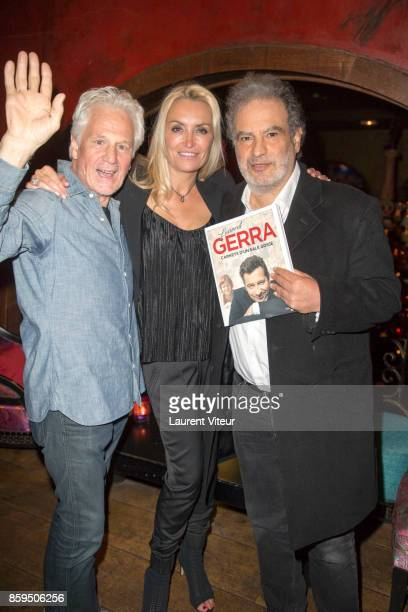 Gerard Lenormand Chrystelle Bardet and Raphael Mezrahi attend 'Carnets d'un Sale Gosse' Laurent Gerra Signing his book at Buddha Bar on October 9...