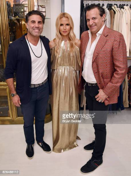Gerard Maione Rachel Zoe and Seth Weisser attend the Rachel Zoe x What Goes Around Comes Around popin on August 4 2017 in East Hampton New York