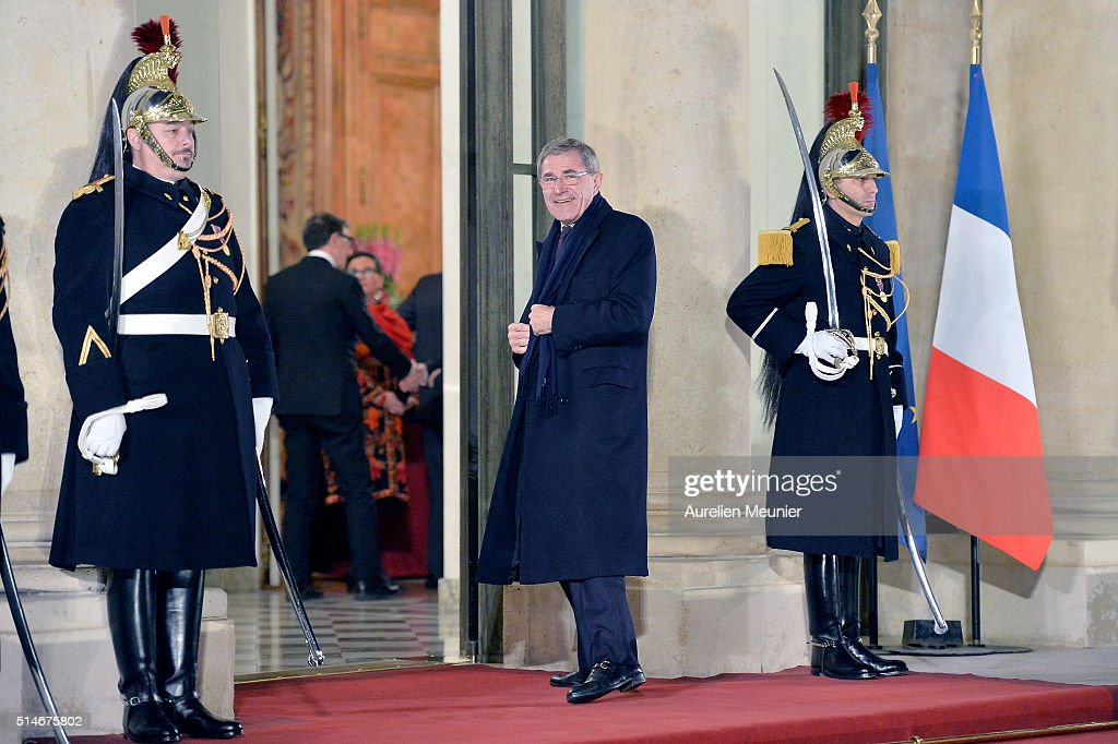 Gerard Mestrallet arrives to the state dinner given by French President Francois Hollande in honor of Queen Maxima of the Netherlands and King Willem-Alexander of the Netherlands at Elysee Palace on March 10, 2016 in Paris, France. Queen Maxima and King Willem-Alexander of The Netherlands are on a two-day state visit in France
