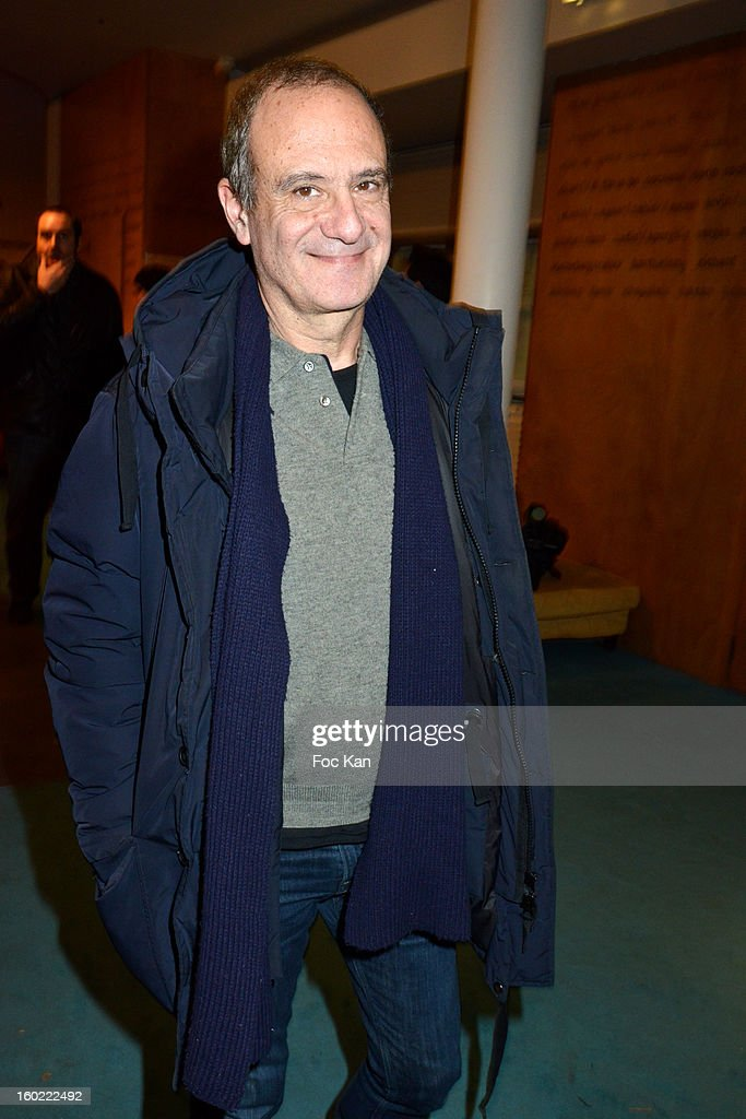 Gerard Millerl attends 'Mariage Pour Tous' at Theatre du Rond-Point on January 27, 2013 in Paris, France.