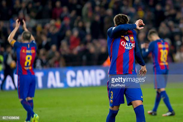 Gerard Piqué during the spanish football league match between FC Barcelona and Real Madrid in Barcelona on December 3 2016