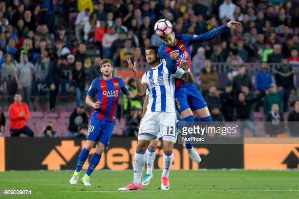 Gerard Piqué during the Spanish League match between FC Barcelona and Real Sociedad in Barcelona on April 15 2017