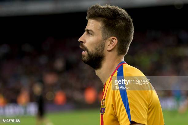 Gerard Piqué prior the spanish league match between FC Barcelona and Eibar at Camp Nou Stadium in Barcelona Spain on September 19 2017