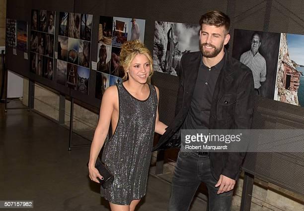 Gerard Pique and Shakira attend the 'Festa De Esport Catala 2016 Awards' on January 25 2016 in Barcelona Spain