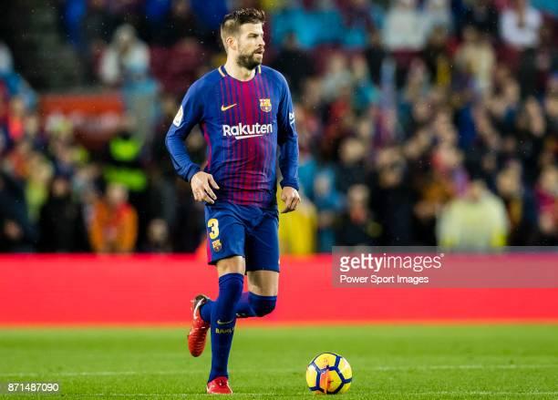 Gerard Pique Bernabeu of FC Barcelona in action during the La Liga 201718 match between FC Barcelona and Sevilla FC at Camp Nou on November 04 2017...