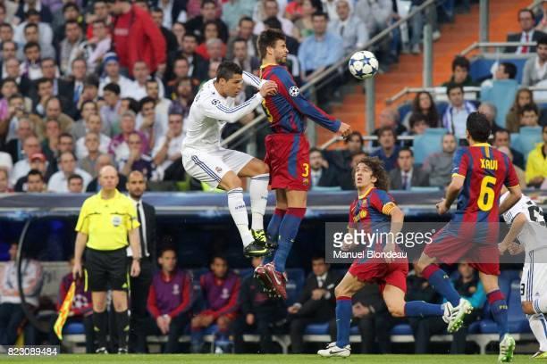 Gerard Pique / Cristiano Ronaldo Real Madrid / Barcelone 1/2 finale aller de Ligue des Champions MadridStadeSantiago Bernabeu