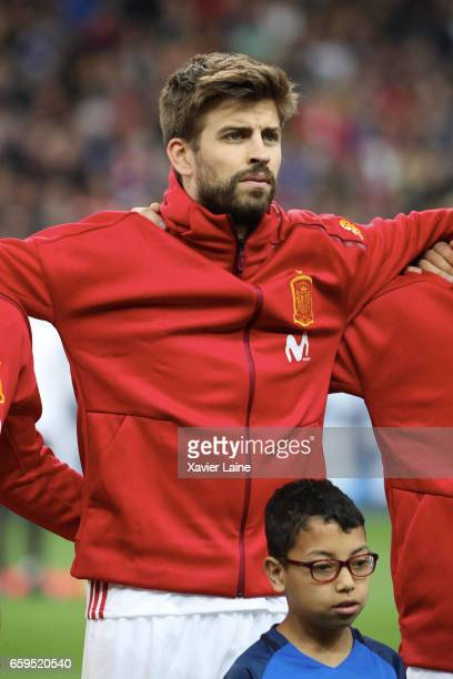 Gerard Pique of Spain during the Friendly game between France and Spain at Stade de France on march 28 2017 in Paris France
