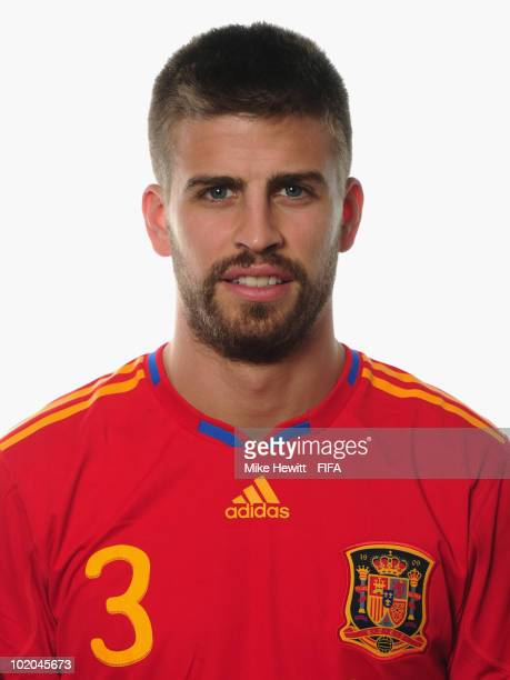Gerard Pique of Spain poses during the official Fifa World Cup 2010 portrait session on June 13 2010 in Potchefstroom South Africa