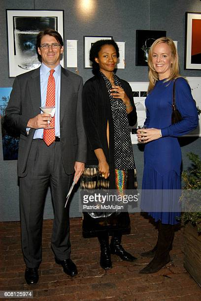 Gerard Sargent Kara Walker and Erica Klauer attend BOMB Magazine Celebrates 26th Anniversary Spring Gala at The Park on April 17 2007 in New York City