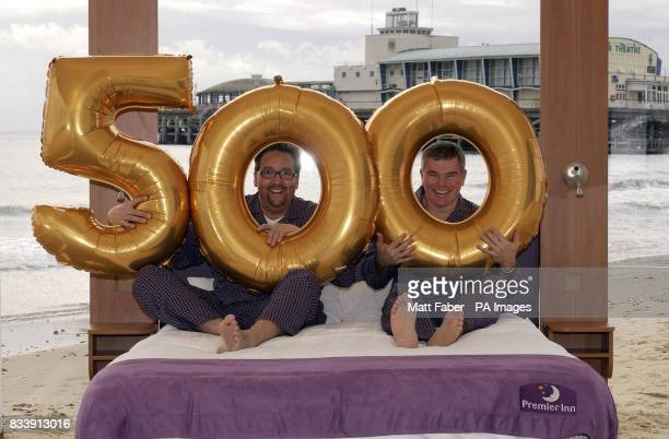Gerard Tempest Marketing Director left and Patrick Dempsey Managing Director right of Premier Inn celebrate the opening of the 500th Premier Inn in...