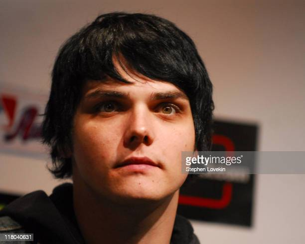 Gerard Way of My Chemial Romance during Linkin Park Announces the 2007 Projekt Revolution Tour Lineup at Museum of TV and Radio in New York City New...