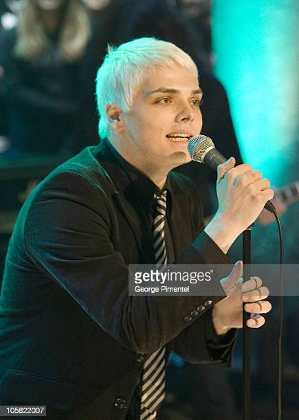 Gerard Way of My Chemical Romance during My Chemical Romance Performs Live at MuchMusic Studios November 2 2006 at Chum City Building in Toronto...