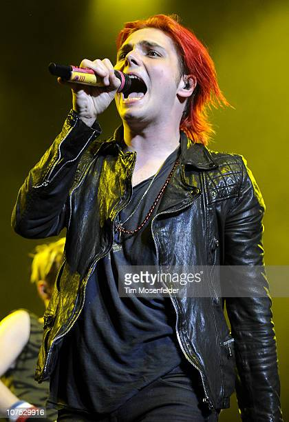 Gerard Way of My Chemical Romance performs as part of Live 105's Not So Silent Night at HP Pavilion on December 10 2010 in San Jose California