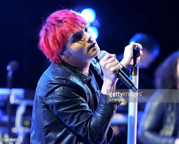 Gerard Way of My Chemical Romance performs during the 2011 Honda Civic Tour at Shoreline Amphitheatre on October 5 2011 in Mountain View California