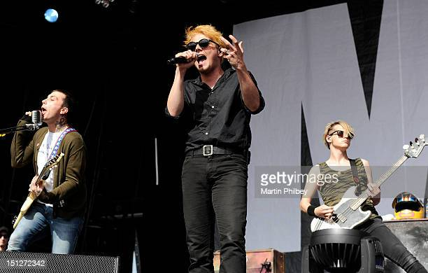 Gerard Way of My Chemical Romance performs on stage at the Melbourne Big Day Out at Flemington Race Course on 29th January 2012 in Melbourne Australia