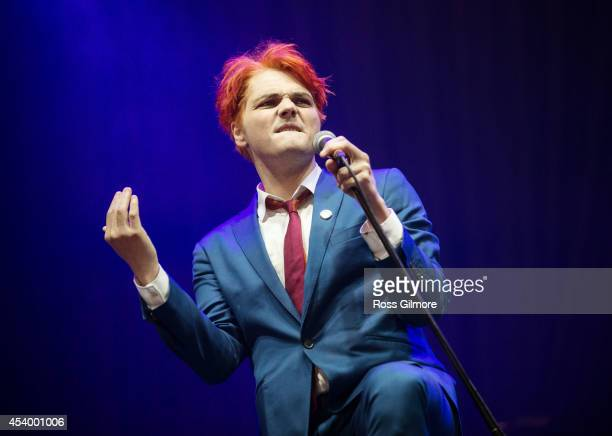 Gerard Way performs on Day 2 of the Leeds Festival at Bramham Park on August 23 2014 in Leeds England