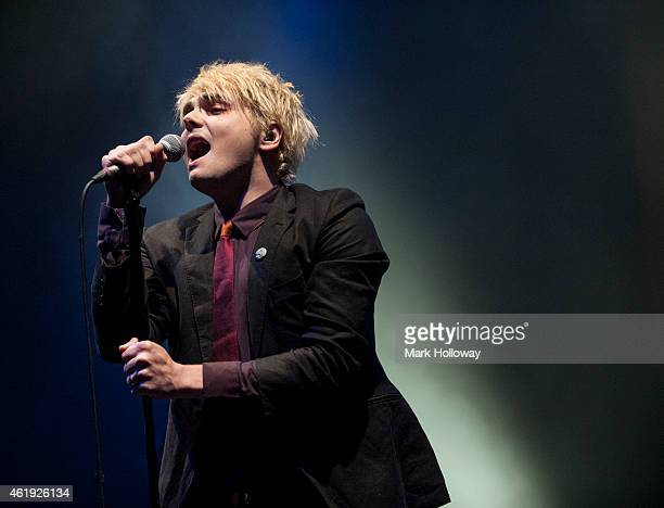 Gerard Way performs on stage at Southampton Guildhall on January 21 2015 in Southampton United Kingdom