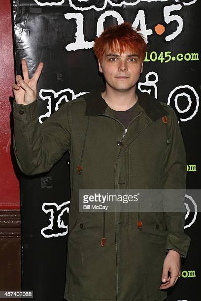 Gerard Way poses at the Radio1045 Presents Gerard Way Private Sound Check Party at the Trocadero October 17 2014 in Philadelphia Pennsylvania