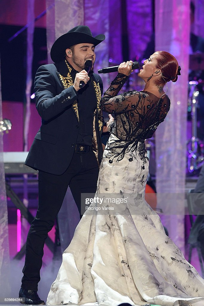 Gerardo Ortiz and Alejandra Guzman perform onstage at the Billboard Latin Music Awards at Bank United Center on April 28, 2016 in Miami, Florida.