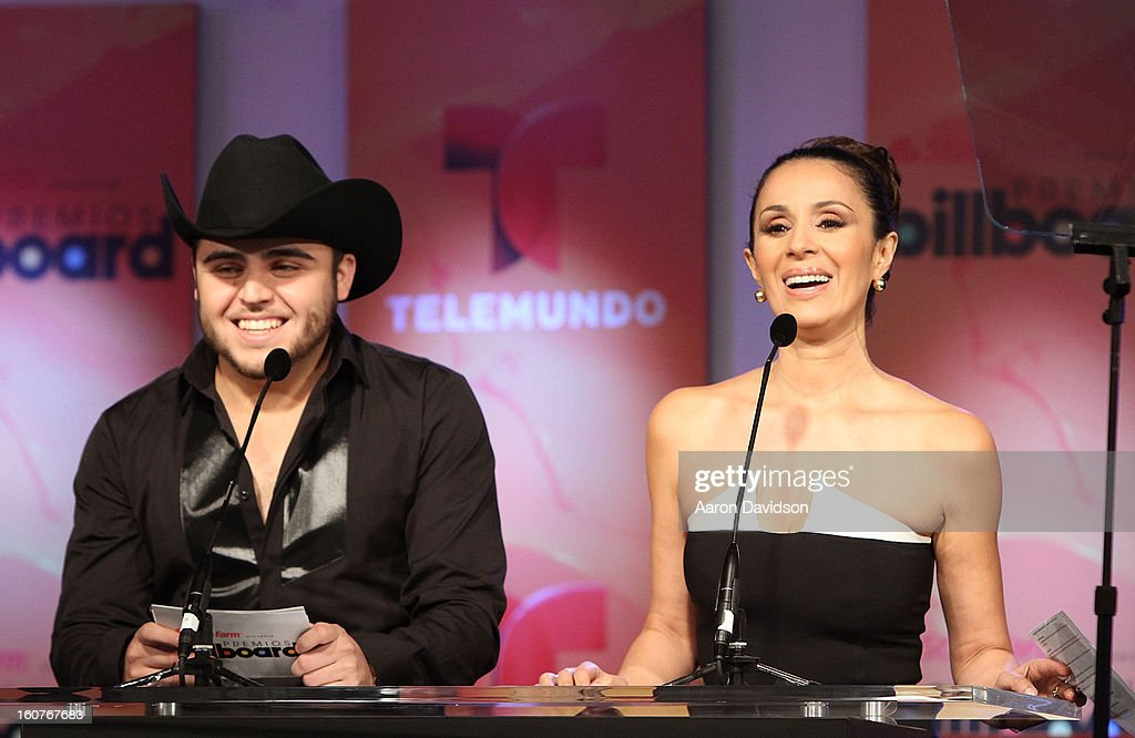 <a gi-track='captionPersonalityLinkClicked' href=/galleries/search?phrase=Gerardo+Ortiz&family=editorial&specificpeople=674050 ng-click='$event.stopPropagation()'>Gerardo Ortiz</a> and <a gi-track='captionPersonalityLinkClicked' href=/galleries/search?phrase=Catherine+Siachoque&family=editorial&specificpeople=889171 ng-click='$event.stopPropagation()'>Catherine Siachoque</a> attend Telemundo and Premios Billboard 2013 Press Conference at Gibson Miami Showroom on February 5, 2013 in Miami, Florida.