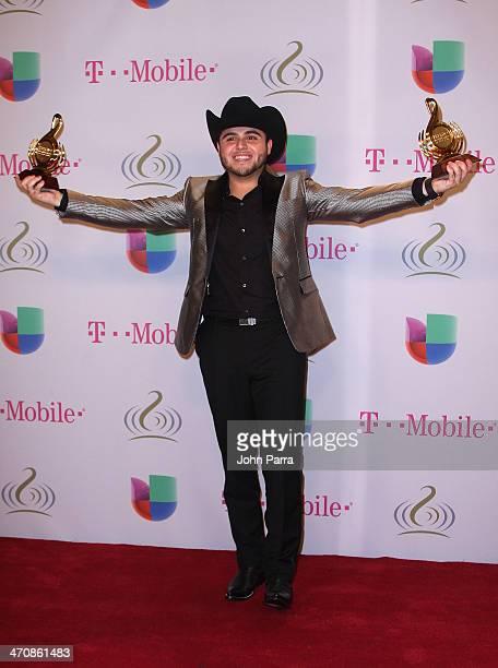 Gerardo Ortiz attends Premio Lo Nuestro a la Musica Latina 2014 at American Airlines Arena on February 20 2014 in Miami Florida