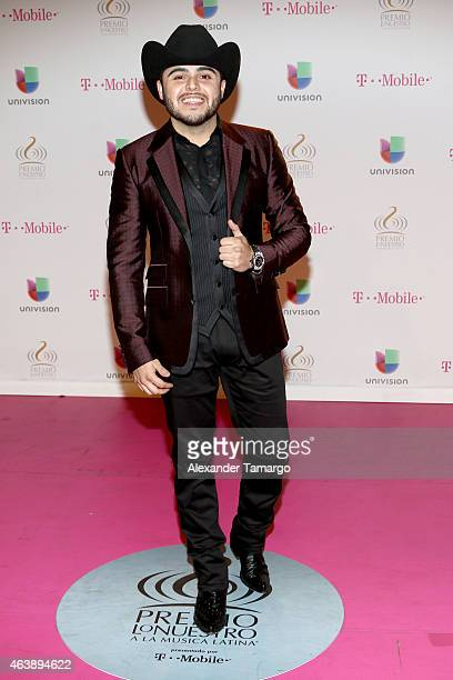 Gerardo Ortiz attends the 2015 Premios Lo Nuestros Awards at American Airlines Arena on February 19 2015 in Miami Florida