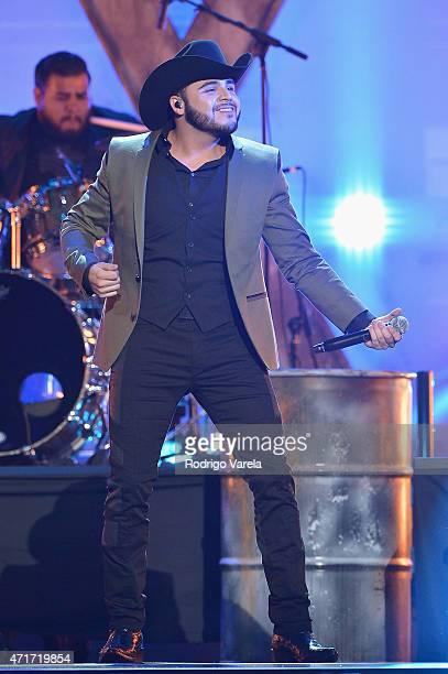 Gerardo Ortiz performs onstage at the 2015 Billboard Latin Music Awards presented bu State Farm on Telemundo at Bank United Center on April 30 2015...