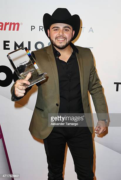 Gerardo Ortiz poses backstage at 2015 Billboard Latin Music Awards presented by State Farm on Telemundo at Bank United Center on April 30 2015 in...
