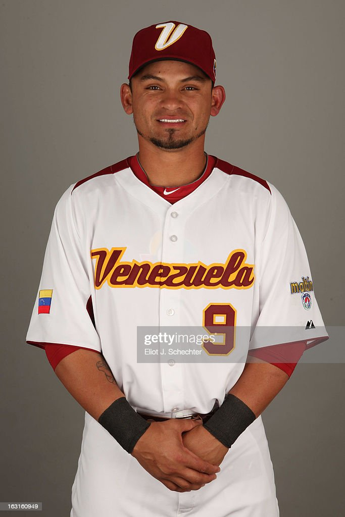 <a gi-track='captionPersonalityLinkClicked' href=/galleries/search?phrase=Gerardo+Parra&family=editorial&specificpeople=4959447 ng-click='$event.stopPropagation()'>Gerardo Parra</a> #9 of Team Venezuela poses for a headshot for the 2013 World Baseball Classic at Roger Dean Stadium on Monday, March 4, 2013 in Jupiter, Florida.