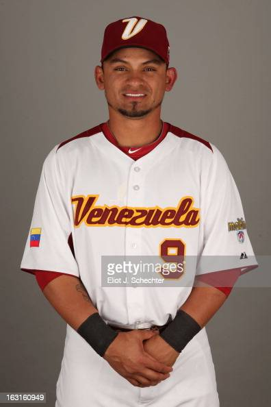 Gerardo Parra of Team Venezuela poses for a headshot for the 2013 World Baseball Classic at Roger Dean Stadium on Monday March 4 2013 in Jupiter...