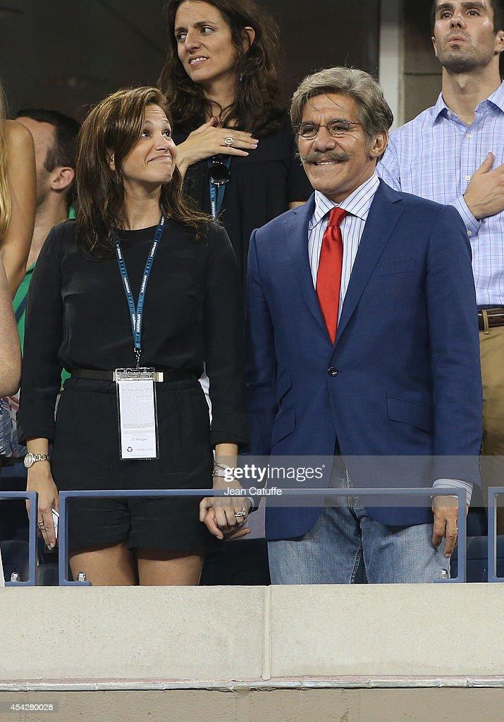 Gerardo Rivera and his wife Erica Michelle Levy attend Day 3 of the 2014 US Open at USTA Billie Jean King National Tennis Center on August 27, 2014 in the Flushing neighborhood of the Queens borough of New York City.