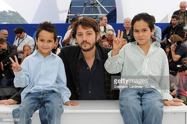 Gerardo Ruiz Esparza Diego Luna and Christopher Ruiz Esparza at the photocall for 'Abel' during the 63rd Cannes International Film Festival