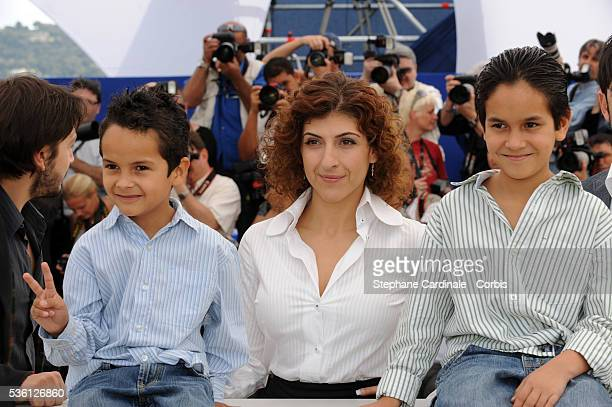 Gerardo Ruiz Esparza Karine Gidi and Christopher Ruiz Esparza at the photocall for 'Abel' during the 63rd Cannes International Film Festival