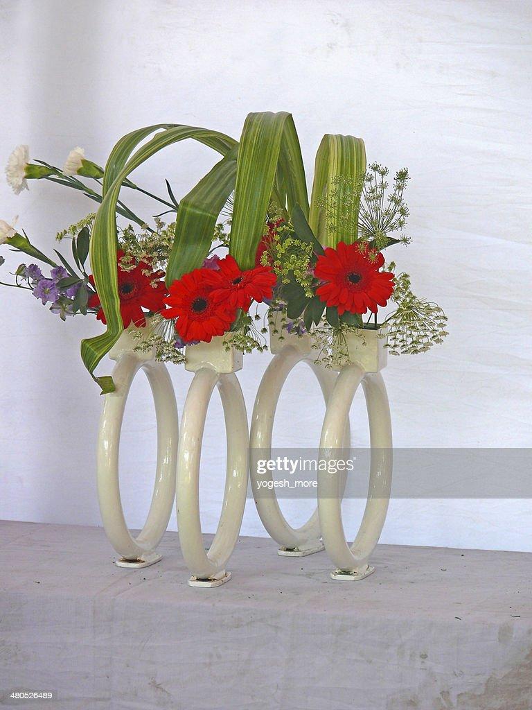 Fiori di Gerbera, Gerbera jamesonii, Composizione di fiori : Foto stock