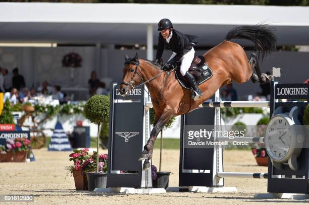 Gerco of Netherlands riding Don Diego during the Piazza di Siena Bank Intesa Sanpaolo in the Villa Borghese on May 27 2017 in Rome Italy