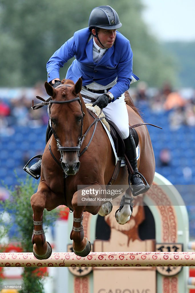 Gerco Schroder of of Netherlands rides on London during the Warsteiner Price jumping competition during day two of the 2013 CHIO Aachen tournament on June 26, 2013 in Aachen, Germany.