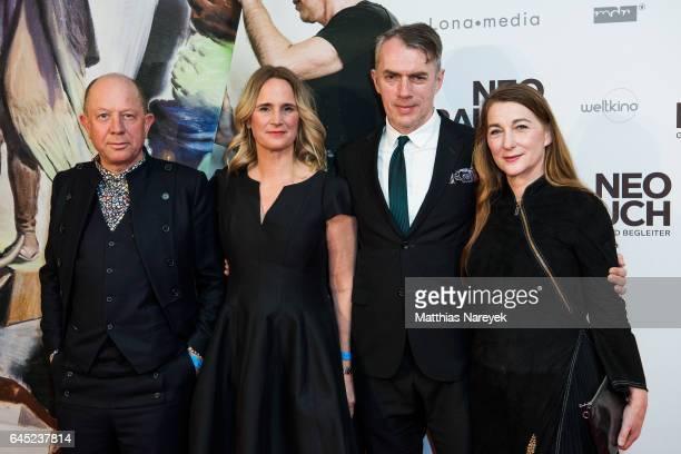 Gerd Harry Lybke Nicola Graef Neo Rauch and Rosa Loy attend the 'Neo Rauch Gefaehrten und Begleiter' premiere at Kino International on February 24...