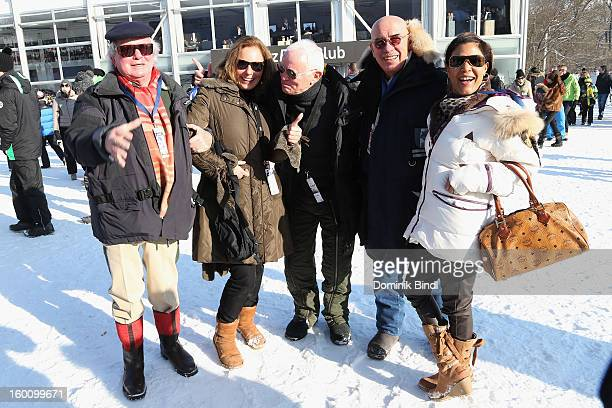 Gerd KaeferCathrin Baldessarini Werner Baldessarini Otto Retzer and Shirly Retzer attend the Hahnenkamm Race on January 26 2013 in Kitzbuehel Austria