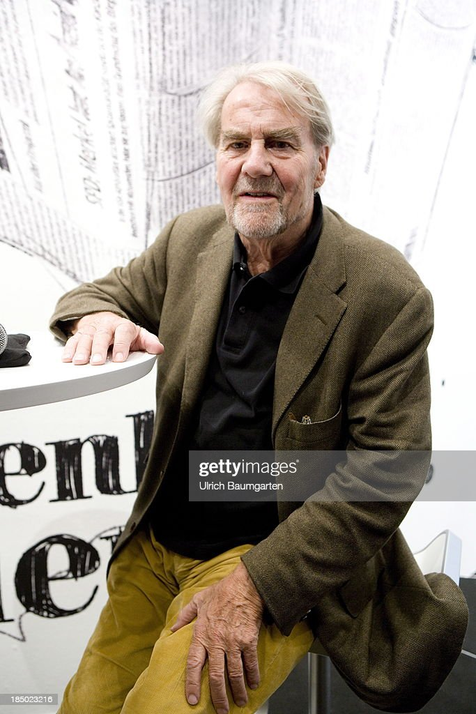 <a gi-track='captionPersonalityLinkClicked' href=/galleries/search?phrase=Gerd+Ruge&family=editorial&specificpeople=2364187 ng-click='$event.stopPropagation()'>Gerd Ruge</a>, German journalist and author, at the Frankfurt Book Fair, on October 12, 2013 in Frankfurt , Germany.