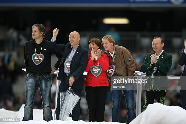 Gerd Schönfelder Christian Neureuther Rosi Mittermaier Markus Wasmaier Stars die Winterspiel und Du in der Allianzarena