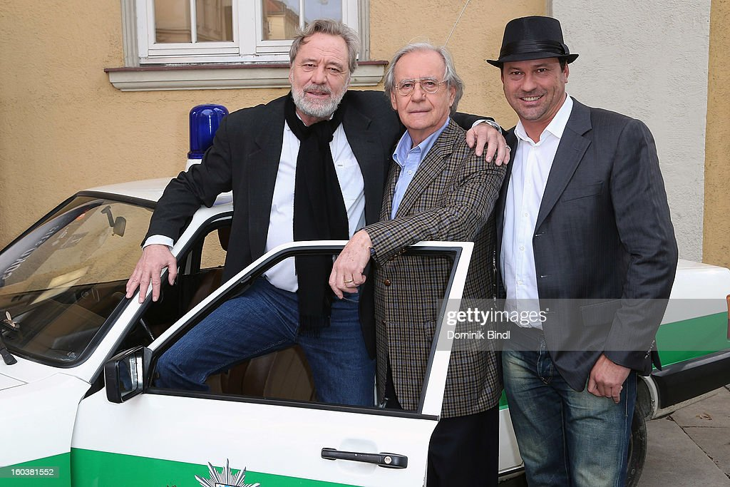 Gerd Silberbauer, Wilfried Klaus and Michel Guillaume attend the 35 years anniversary of the tv show 'Soko 5113' on January 30, 2013 in Munich, Germany.