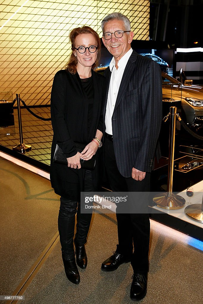 Gerd Strehle and his girlfriend Gila Kesten attend the Querdenker Award 2015 at BMW World on November 25, 2015 in Munich, Germany.