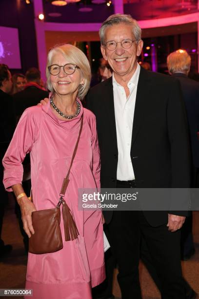 Gerd Strehle and his sister Helga Baeumler during the PIN Party 'Let's party 4 art' at Pinakothek der Moderne on November 18 2017 in Munich Germany