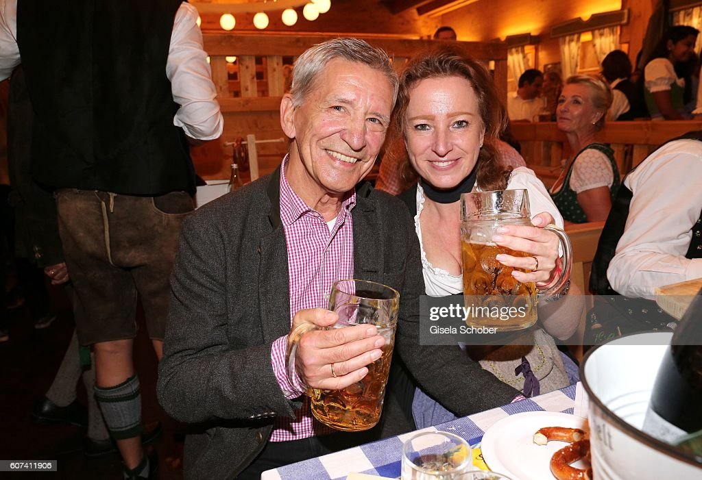 Gerd Strehle and his wife Gila Strehle during the opening of the oktoberfest 2016 at the 'Schuetzen-Festzelt' beer tent at Theresienwiese on September 17, 2016 in Munich, Germany.