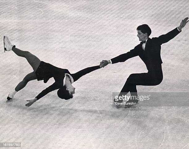 MAR 3 1965 551965 Gerda and Ruedi Johner Swiss pair ice skaters Johner Ruedi Greta spts file 5p