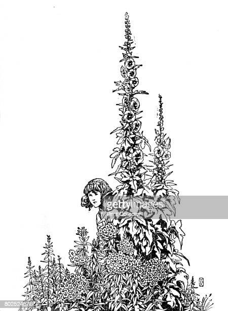 Gerda Knew Every Flower in the Garden' c1930 An illustration from 'The Snow Queen' by Hans Christian Andersen From Hans Andersen's Fairy Tales by...