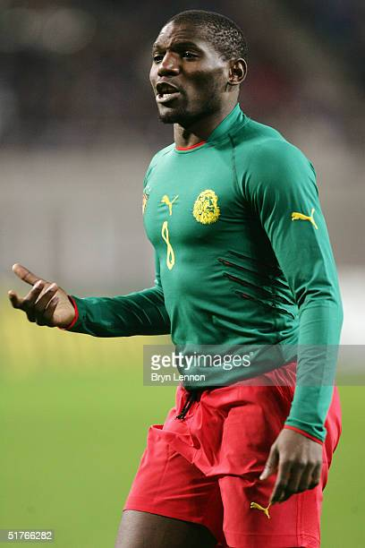 Geremi of Cameroon in action during the international friendly between Germany and Cameroon at Zentralstadion Leipzig on November 17 2004 in Leipzig...