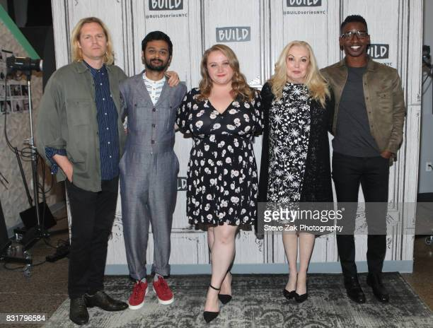 Geremy Jasper Cathy Moriart Siddharth Dhananjay Danielle Macdonald and Mamoudou Athie attend Build Series to disucss their new film 'Patti Cake$' at...