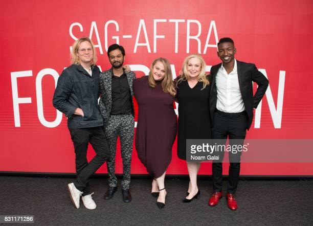 Geremy Jasper Siddharth Dhananjay Danielle Macdonald Cathy Moriarty and Mamoudou Athie visit SAGAFTRA Foundation to discuss 'Patti Cake$' at SAGAFTRA...