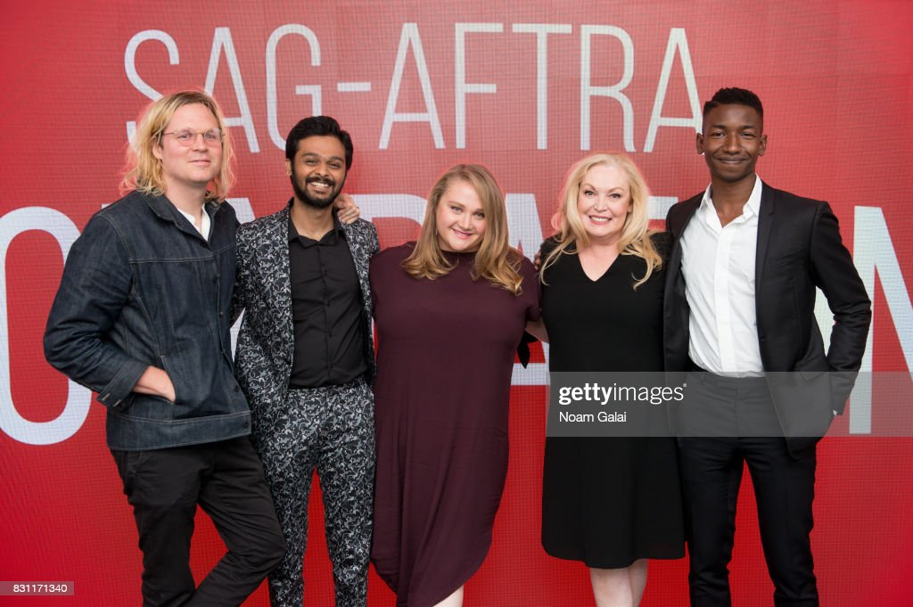 Geremy Jasper, Siddharth Dhananjay, Danielle Macdonald, Cathy Moriarty and Mamoudou Athie visit SAG-AFTRA Foundation to discuss 'Patti Cake$' at SAG-AFTRA Foundation Robin Williams Center on August 13, 2017 in New York City.